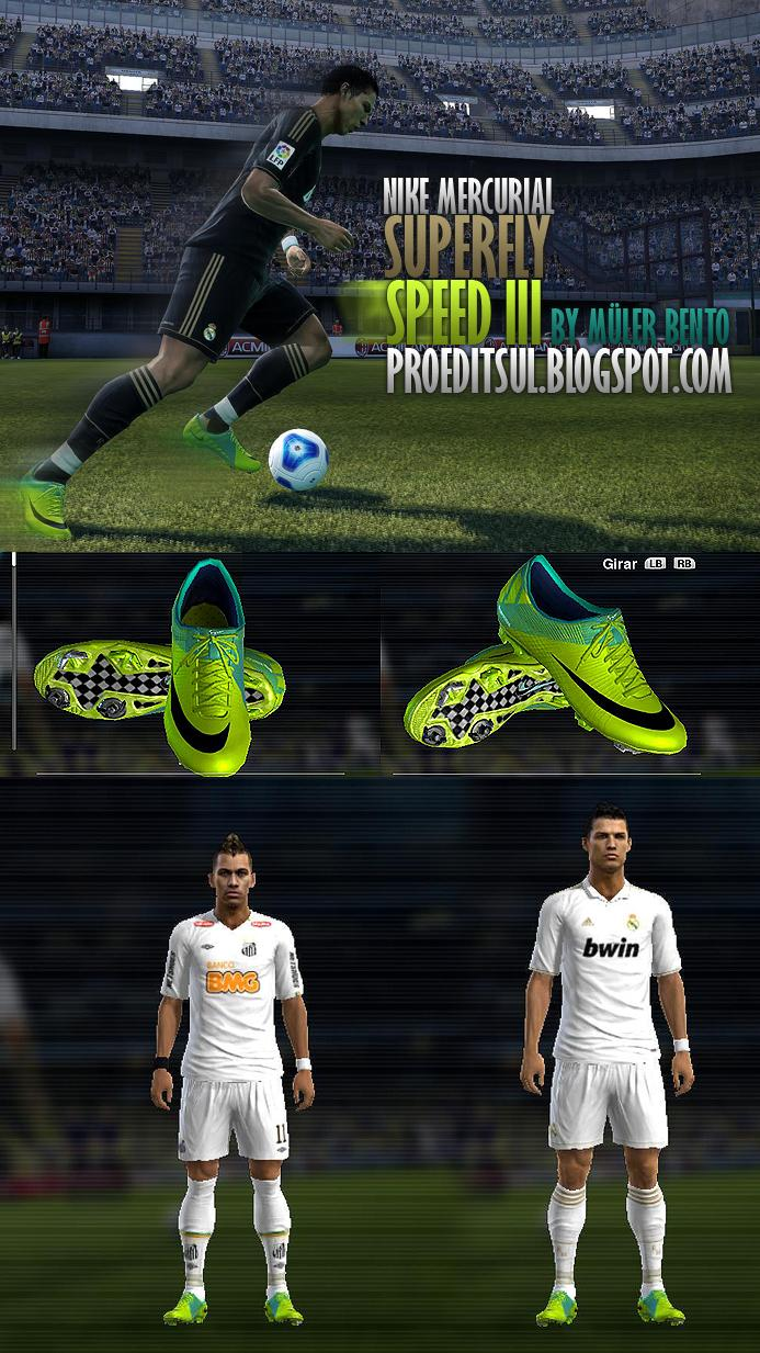 Бутсы Nike Mercurial Superfly III для PES 2012