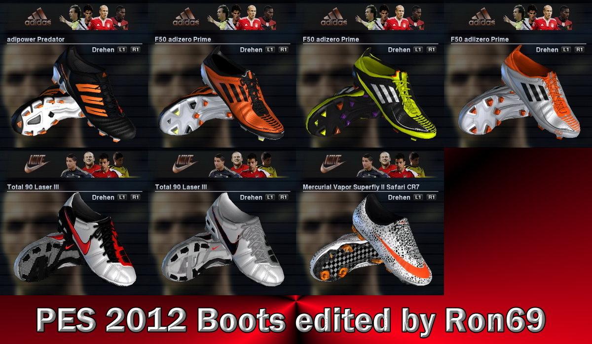 Пак высококачественных бутс для PES 2012